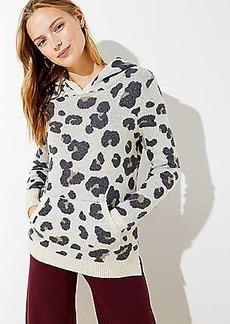 LOFT Leopard Print Hoodie Sweater