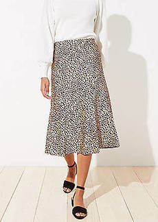 LOFT Leopard Print Pull On Midi Skirt