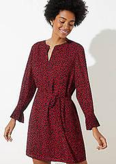 LOFT Leopard Print Tie Waist Dress