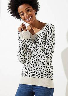 LOFT Leopard Print V-Neck Sweater
