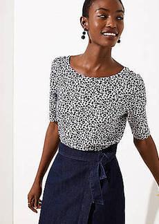 LOFT Leopard Print Vintage Soft Shirttail Tee