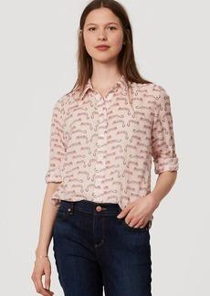 Leopard Shirred Softened Shirt