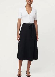 LOFT Linen Blend Tie Waist Midi Skirt