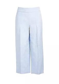 LOFT Linen Blend Wide Leg Crop Pants