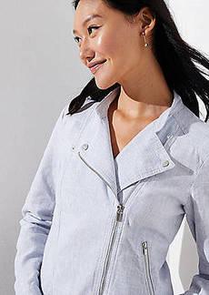 LOFT Linen Cotton Moto Jacket