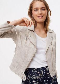 Linen Cotton Motorcycle Jacket