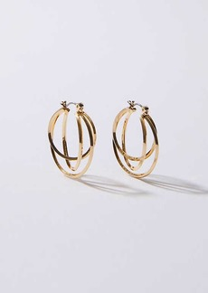 LOFT Linked Circle Hoop Earrings
