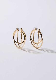 LOFT Linked Circle Hoop Earrings