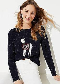 LOFT Llama Sweater