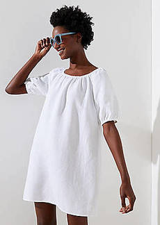 LOFT Beach Blouson Sleeve Dress