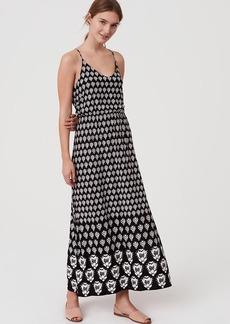 LOFT Beach Coral Reef Blouson Maxi Dress