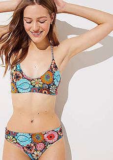 LOFT Beach Coral Reef Reversible Bikini Top
