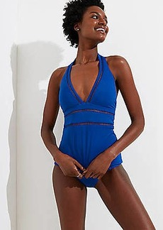 LOFT Beach Cutout Halter Tankini Top