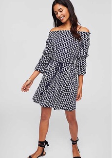 LOFT Beach Diamond Off The Shoulder Tassel Dress