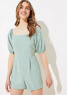 LOFT Beach Dotted Smocked Back Jumpsuit