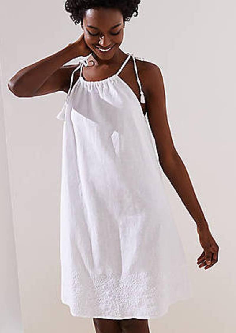 11a05ab677e58 LOFT LOFT Beach Embroidered Halter Dress   Swimwear