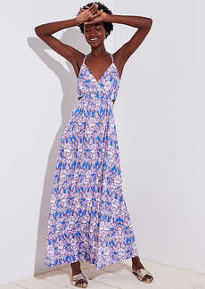 LOFT Beach Floral Cutout Maxi Dress