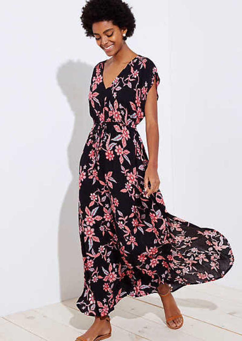 196ce95b5b0 LOFT LOFT Beach Floral Bar Back Maxi Dress