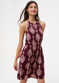 LOFT Beach Floral Medallion Halter Dress