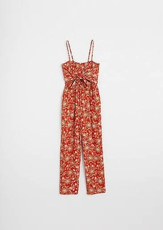 LOFT Beach Floral Smocked Jumpsuit