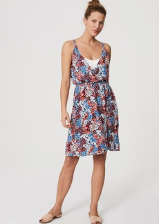 LOFT Beach Floral Strappy Wrap Dress