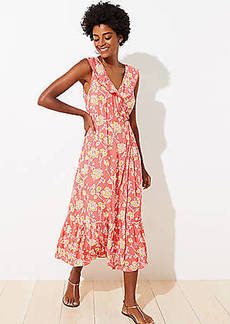LOFT Beach Floral Wrap Maxi Dress