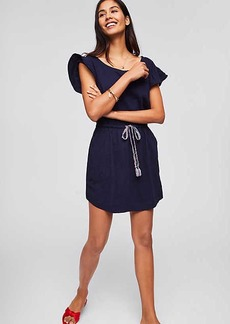 LOFT Beach Flutter Drawstring Tee Dress