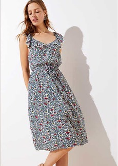 LOFT Beach Garden Flutter Neck Dress