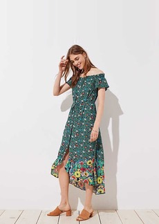 LOFT Beach Garden Off The Shoulder Shirtdress