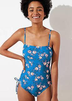 LOFT Beach Garden Shirred One Piece Swimsuit