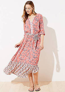 LOFT Beach Garden Tiered Maxi Dress