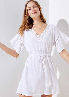 LOFT Beach Lacy Drawstring Dress