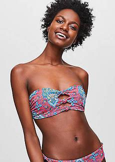 LOFT Beach Paisley Knotted Bandeau Bikini Top