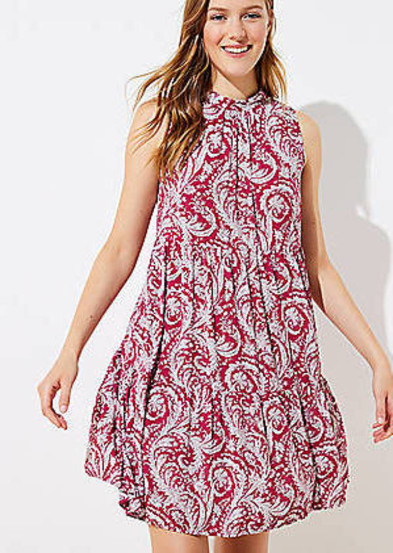 LOFT Beach Paisley Tiered Dress