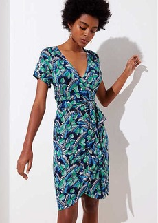 LOFT Beach Palm Island Wrap Dress