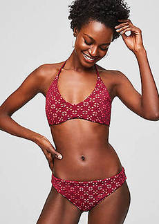 LOFT Beach Perforated Halter Bikini Top