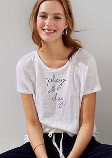 LOFT Beach Playa All Day Linen Tee