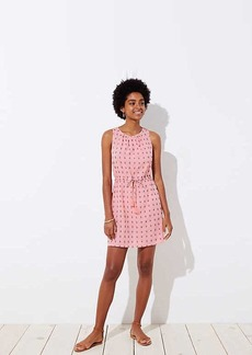 LOFT Beach Geo Drawstring Dress