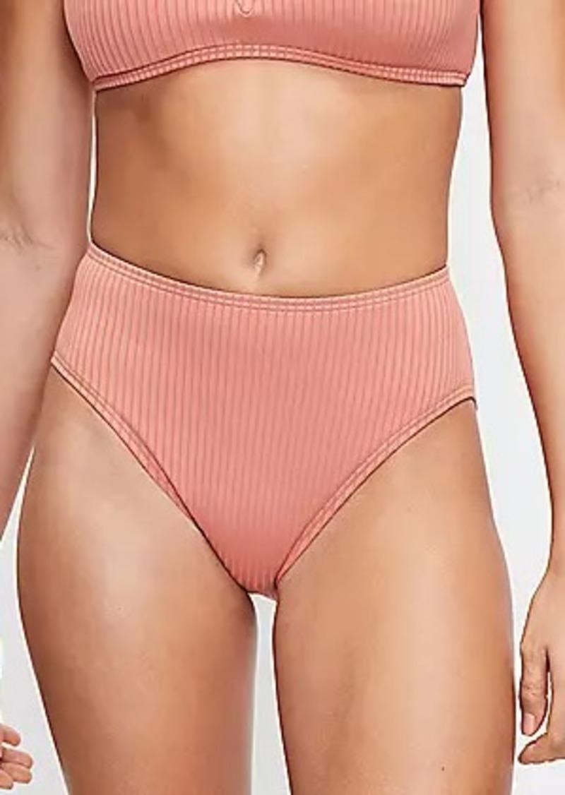 LOFT Beach Ribbed High Waist Bikini Bottom