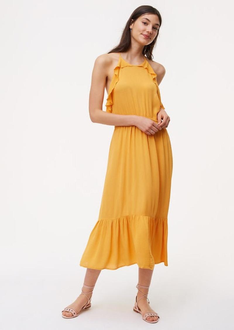 9bba889927 LOFT LOFT Beach Ruffle Halter Midi Dress   Dresses