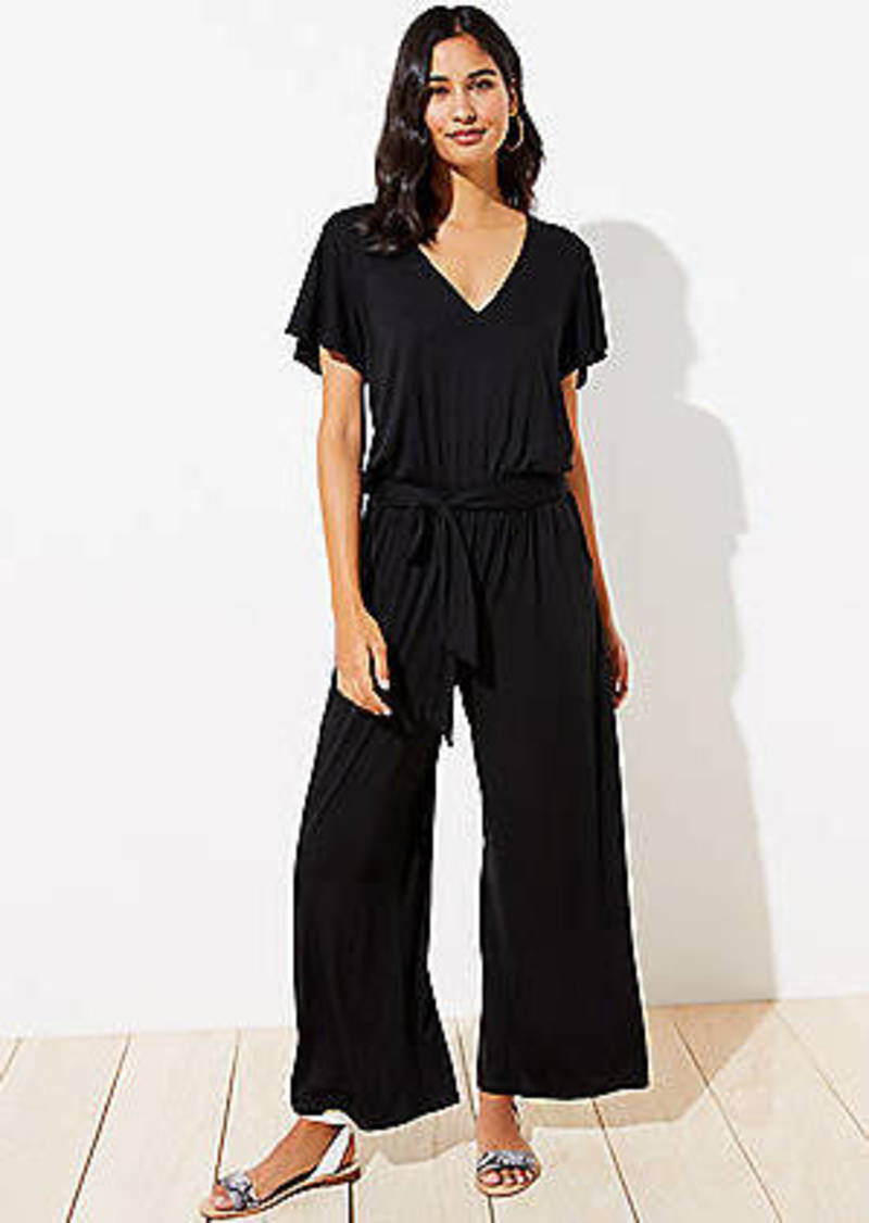 LOFT Beach Ruffle Sleeve Jumpsuit