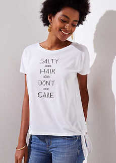 LOFT Beach Salty Hair Don't Care Tee