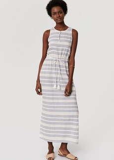 LOFT Beach Shimmer Stripe Drawstring Dress