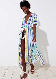 LOFT Beach Shimmer Stripe Maxi Coverup
