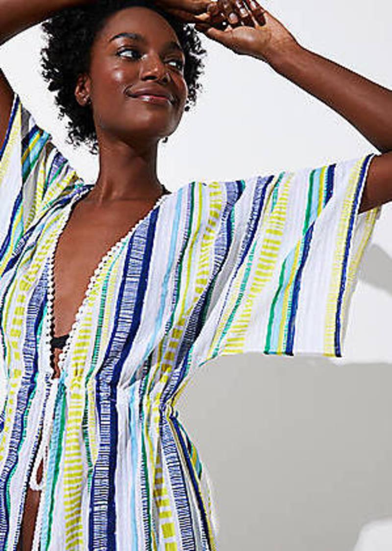 46c8aa35057c6 LOFT LOFT Beach Shimmer Stripe Maxi Coverup Now $34.94