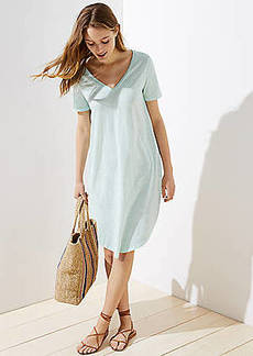 LOFT Beach Shirttail Tee Dress