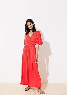 LOFT Beach Short Sleeve Maxi Dress