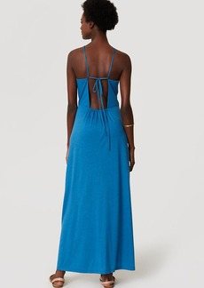 LOFT Beach Strappy Halter Maxi Dress
