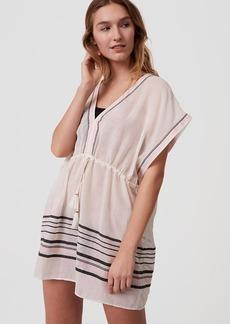 LOFT Beach Striped Caftan Dress