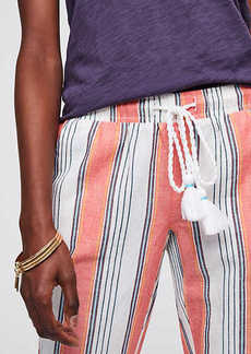 LOFT Beach Striped Drawstring Pants